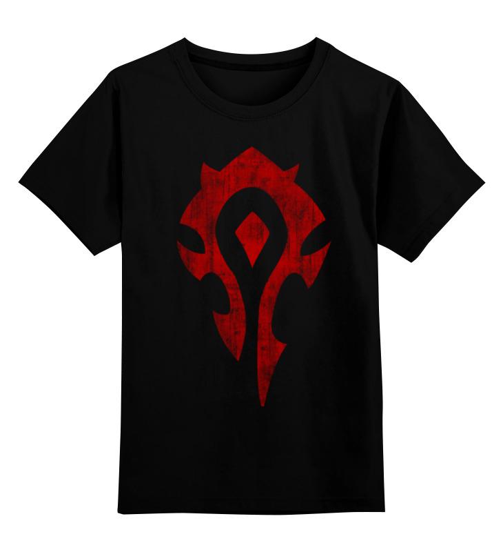 Детская футболка классическая унисекс Printio World of warcraft. орда