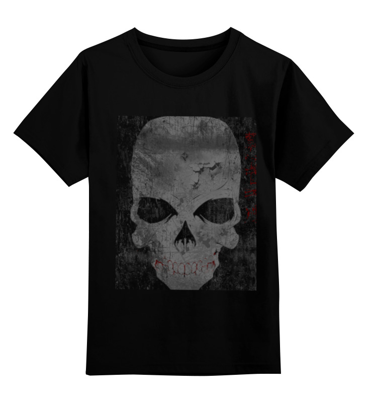 Детская футболка классическая унисекс Printio Grunge skull футболка классическая printio grunge bob