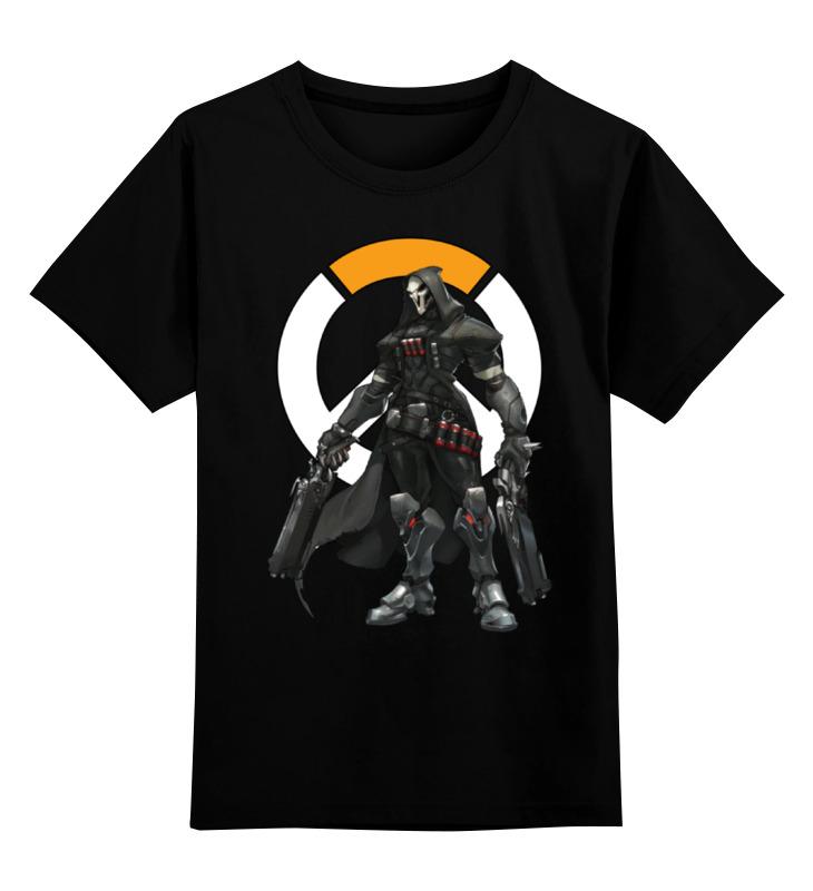 Детская футболка классическая унисекс Printio Overwatch reaper / жнец овервотч