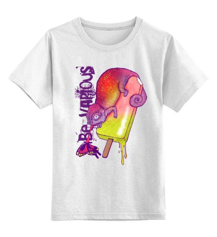 Детская футболка классическая унисекс Printio Хамелеон футболка хамелеон