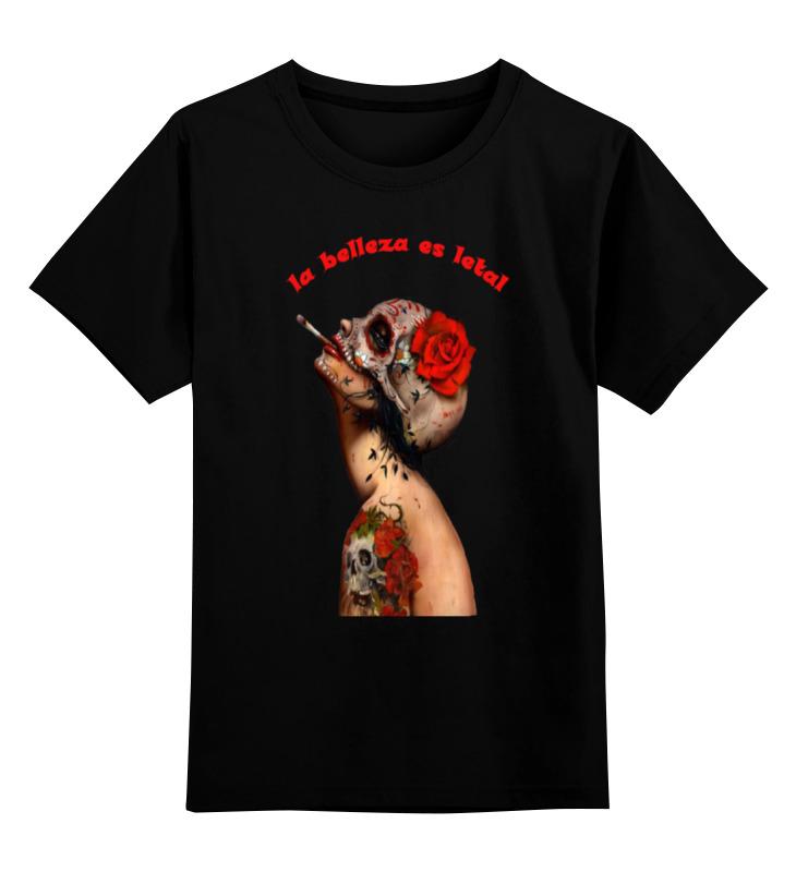 Детская футболка классическая унисекс Printio Красота смертельна сумка printio античная красота