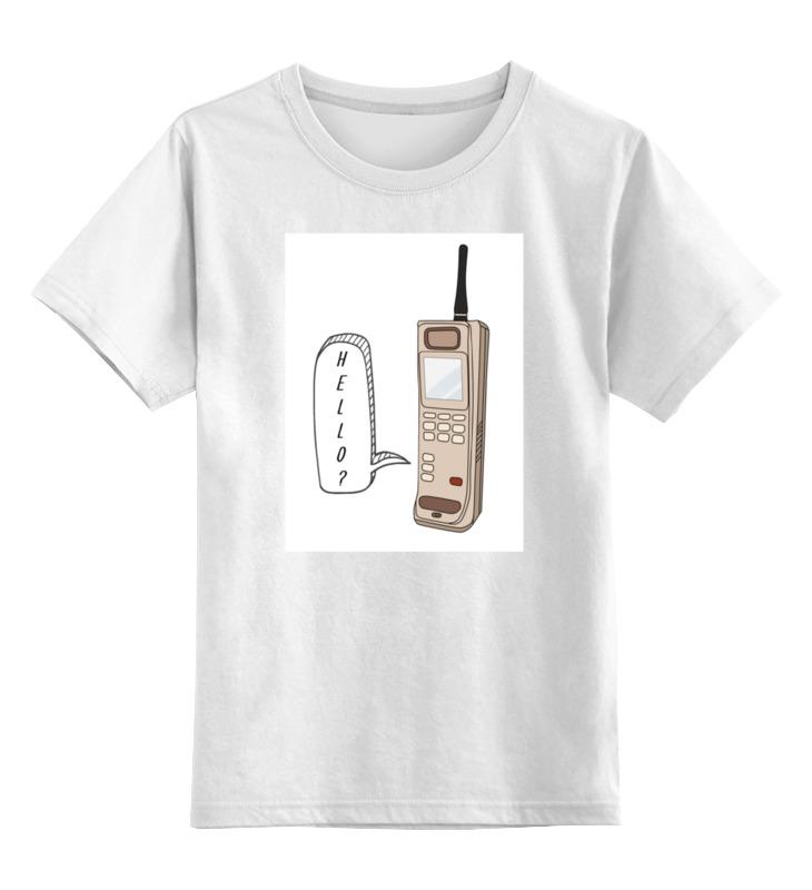 Детская футболка классическая унисекс Printio Ретро телефон телефон