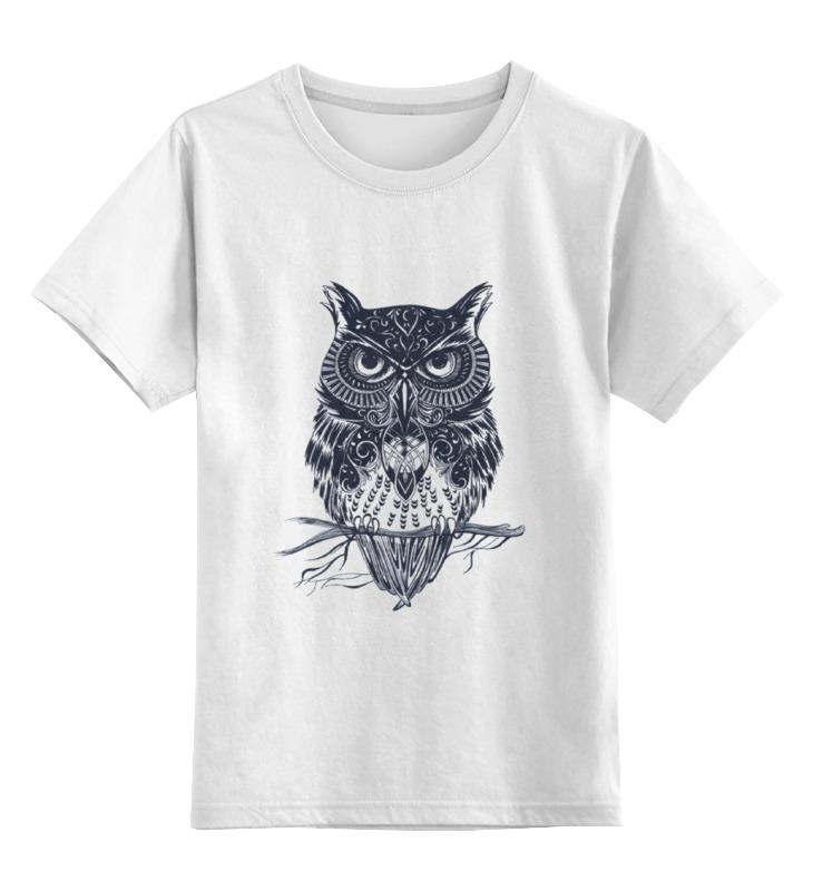 Детская футболка классическая унисекс Printio Сова зен от alsusha