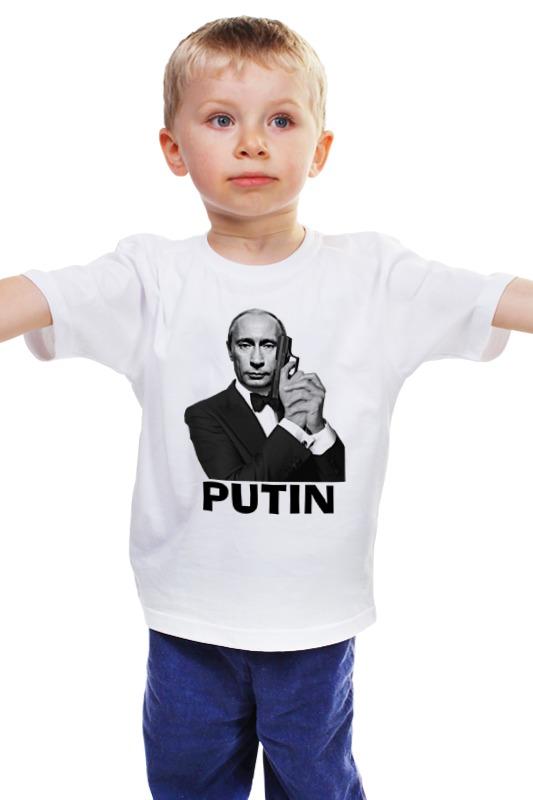 Детская футболка классическая унисекс Printio Путин детская футболка классическая унисекс printio спецназ