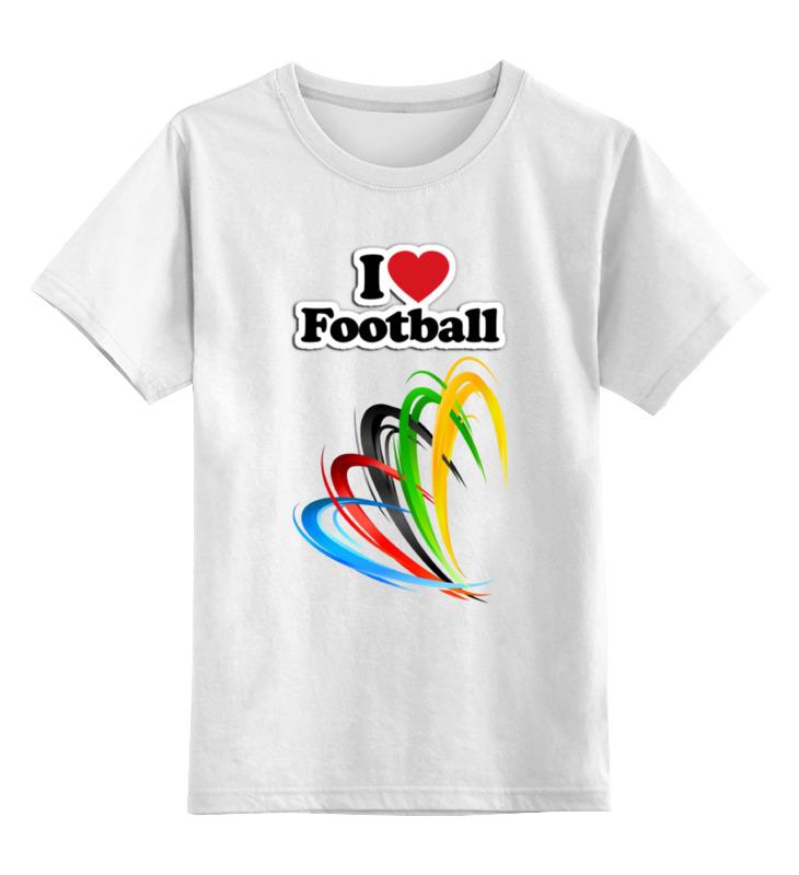 Детская футболка классическая унисекс Printio Я люблю футбол цена и фото