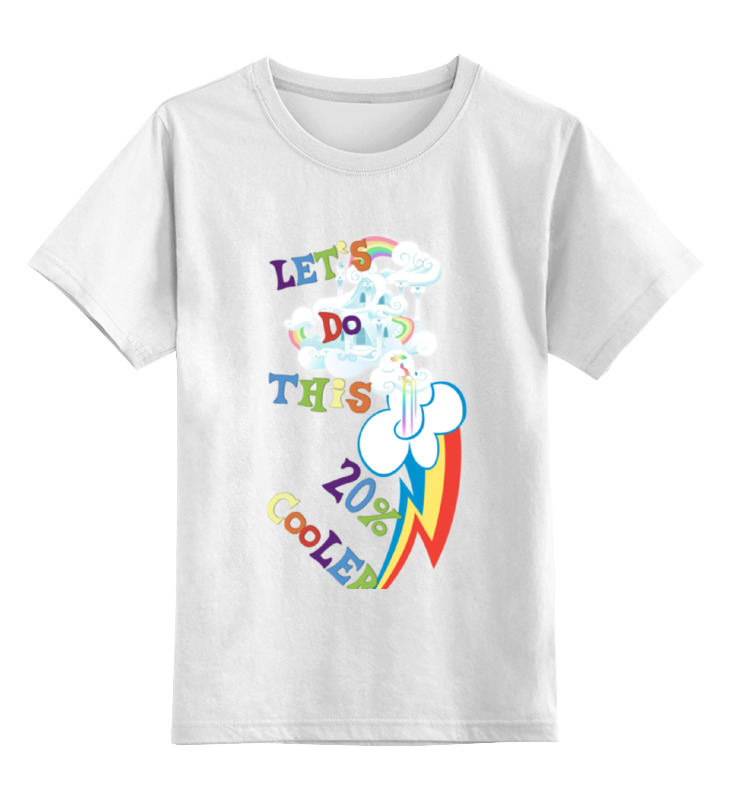 Детская футболка классическая унисекс Printio Let`s do this 20% cooler my first playtime let s get busy