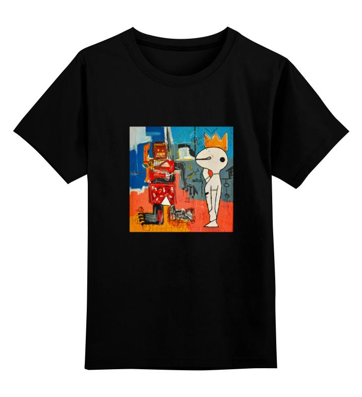Детская футболка классическая унисекс Printio Basquiat / баския детская футболка классическая унисекс printio basquiat жан мишель баския