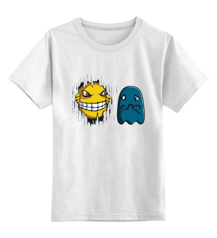Детская футболка классическая унисекс Printio Пакман (сияние) цена