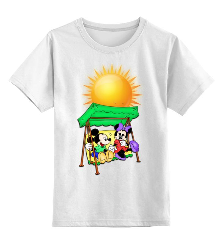 Детская футболка классическая унисекс Printio Микки маусы на качелях ninomio ninomio туника заяц на качелях серая