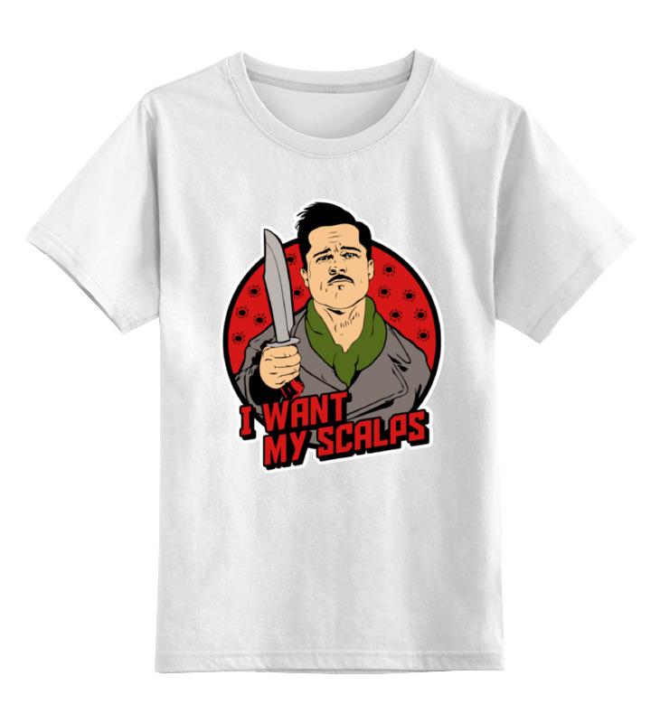 Детская футболка классическая унисекс Printio Альдо рейн (бесславные ублюдки) цена