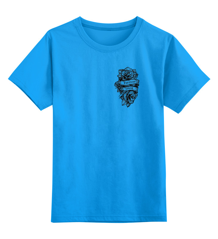 Детская футболка классическая унисекс Printio Forever young ж
