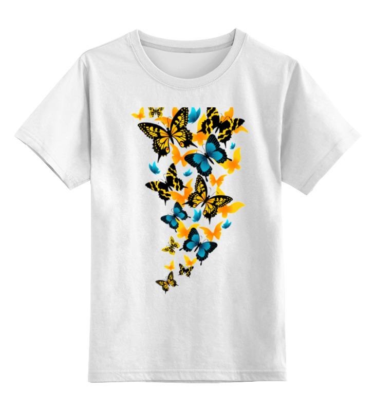 цены Детская футболка классическая унисекс Printio Бабочки летают бабочки...