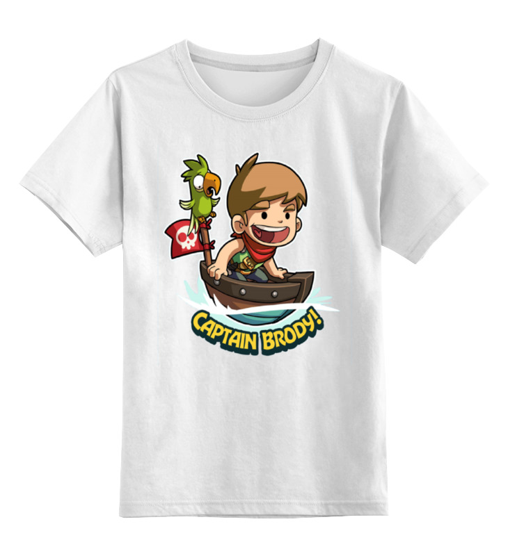 Детская футболка классическая унисекс Printio Капитан броди капитан детская и взрослая модульная мебель мдф