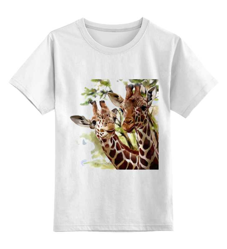 Детская футболка классическая унисекс Printio Жирафы майка классическая printio жирафы