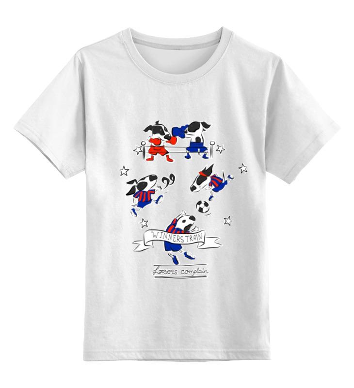 Детская футболка классическая унисекс Printio Winners train loosers complain stamboul train