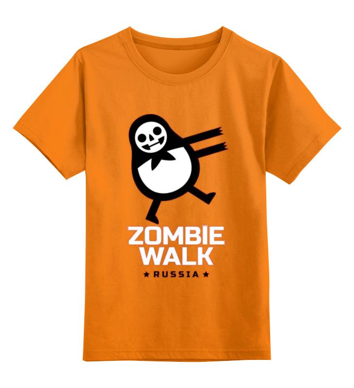 Детская футболка классическая унисекс Printio Zombie walk - russia walk of shame юбка брюки