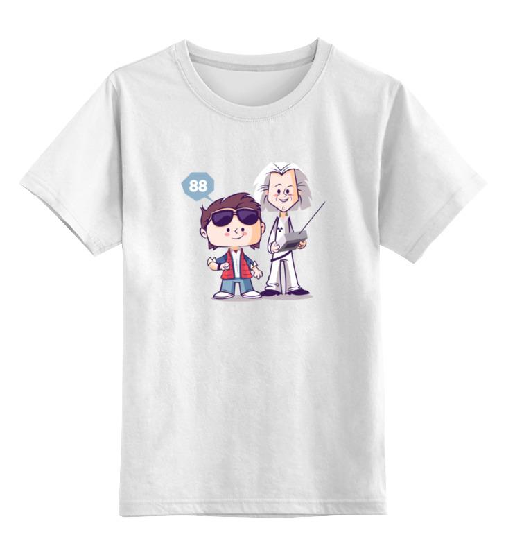 Детская футболка классическая унисекс Printio Док и морти (назад в будущее) цена