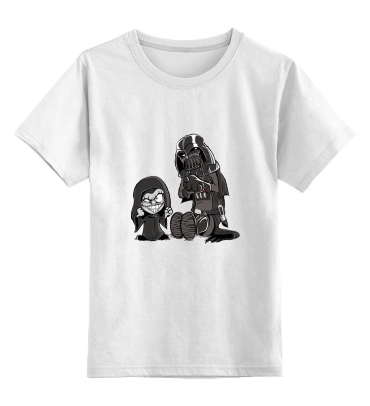 Детская футболка классическая унисекс Printio Дарт вейдер и палпатин футболка классическая printio палпатин