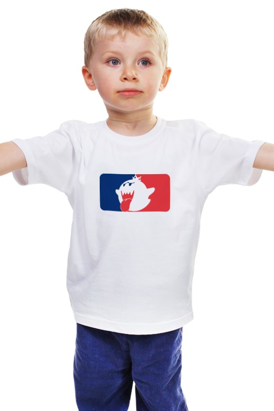 Детская футболка классическая унисекс Printio Кинг бу (марио) бу стекло на ланос