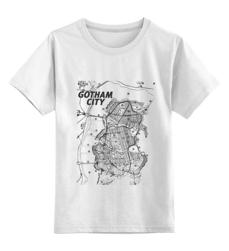 Детская футболка классическая унисекс Printio Gotham city map washington d c city map