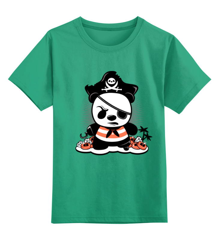 Printio Панда пират детская футболка классическая унисекс printio панда