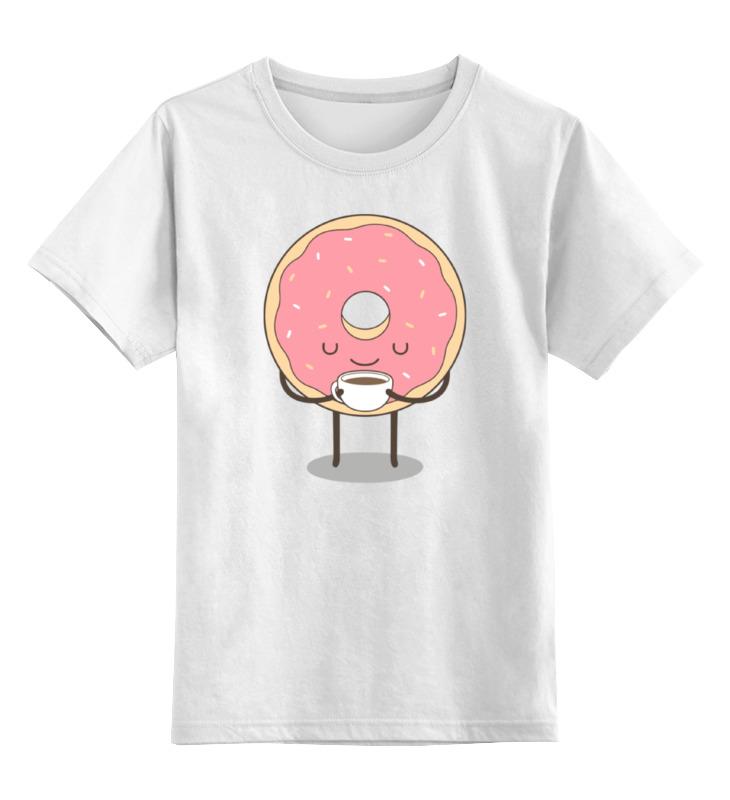 Детская футболка классическая унисекс Printio Пончик детская футболка классическая унисекс printio кот и пончик