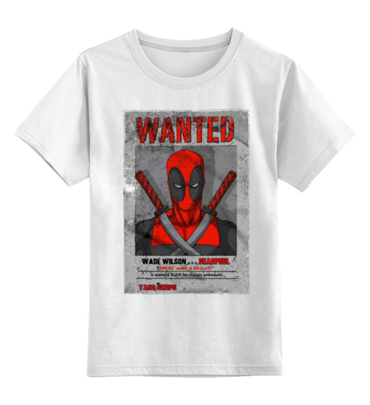Детская футболка классическая унисекс Printio Deadpool детская футболка классическая унисекс printio bart deadpool