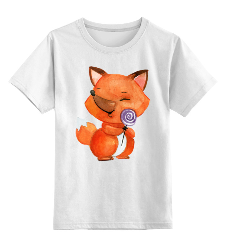 Детская футболка классическая унисекс Printio Лисичка цена и фото