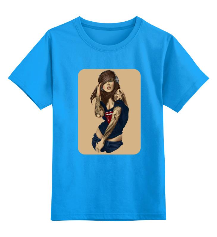 Детская футболка классическая унисекс Printio Девушка с плеером футболка классическая printio девушка с камерой