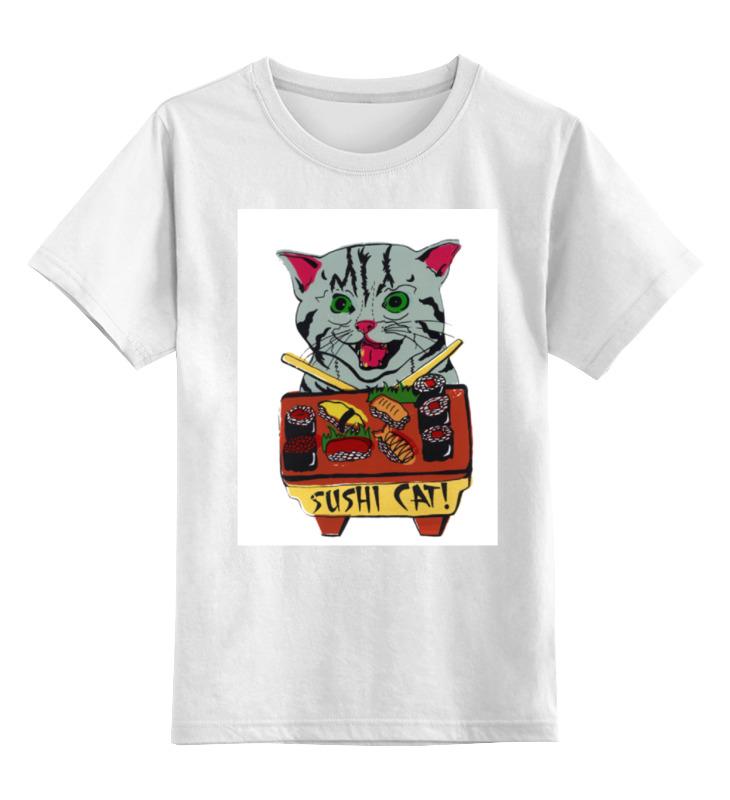 цена на Детская футболка классическая унисекс Printio Кот суши