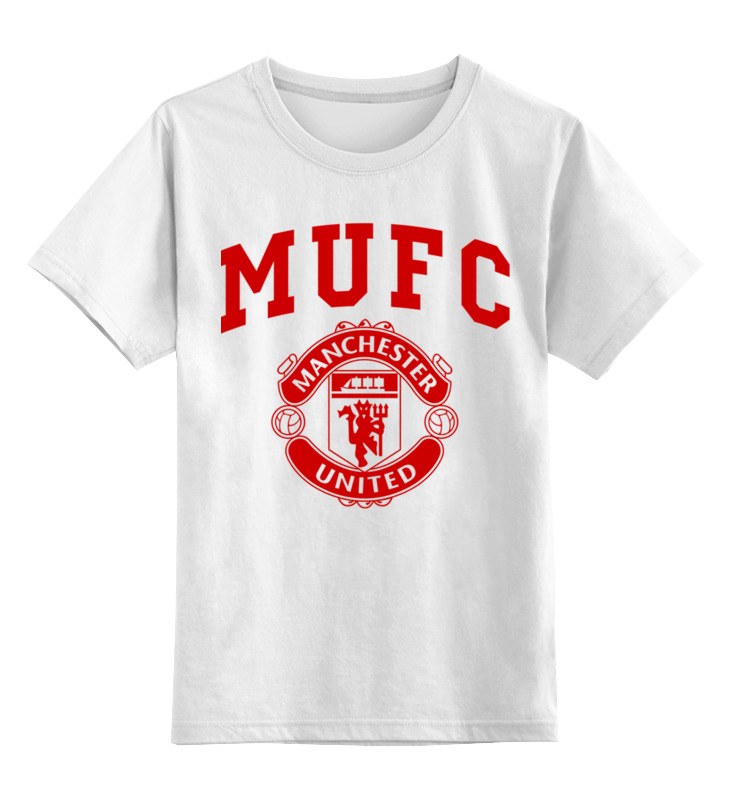 Детская футболка классическая унисекс Printio Манчестер юнайтед шапка классическая унисекс printio манчестер юнайтед