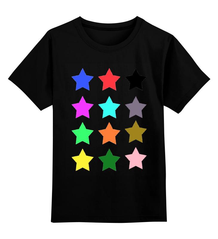 Детская футболка классическая унисекс Printio stars on the black пробковый пол corkstyle adventures stars black