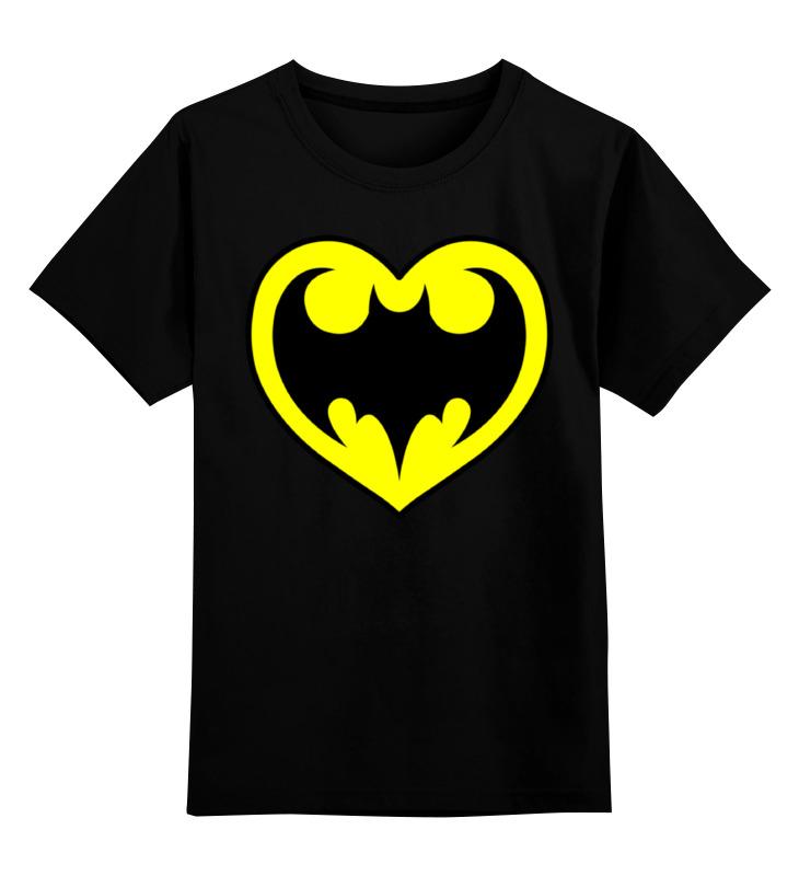 Детская футболка классическая унисекс Printio Я люблю бэтмена цена и фото