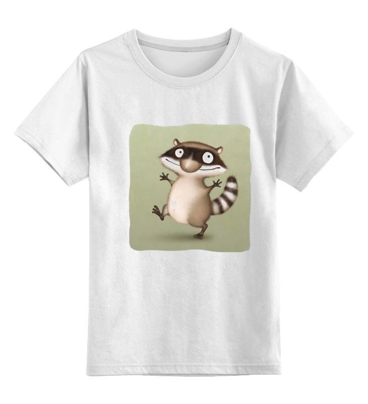 Детская футболка классическая унисекс Printio Крошка енот цена 2017