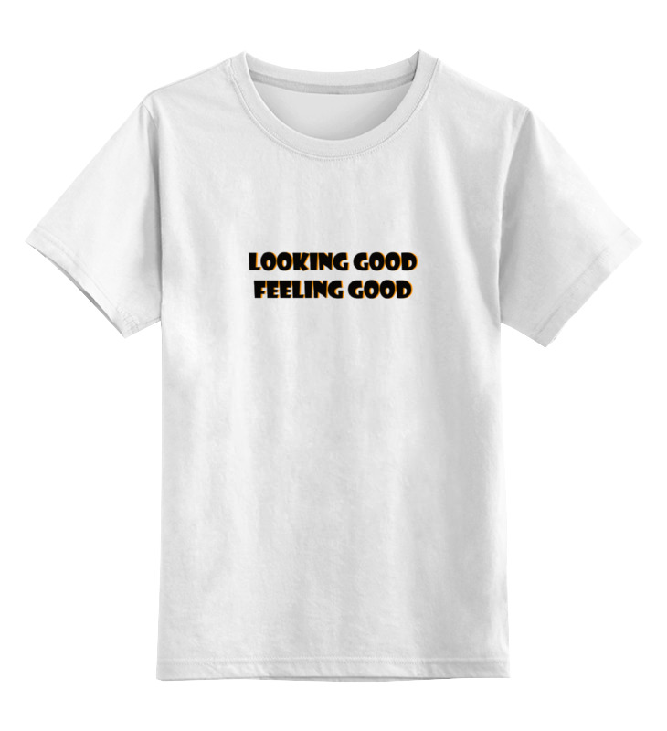 Детская футболка классическая унисекс Printio Хорошо выгляжу