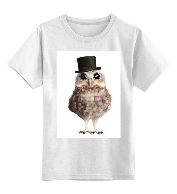Детская футболка классическая унисекс Printio Совушка джентельмен футболка классическая printio футболка совёнок