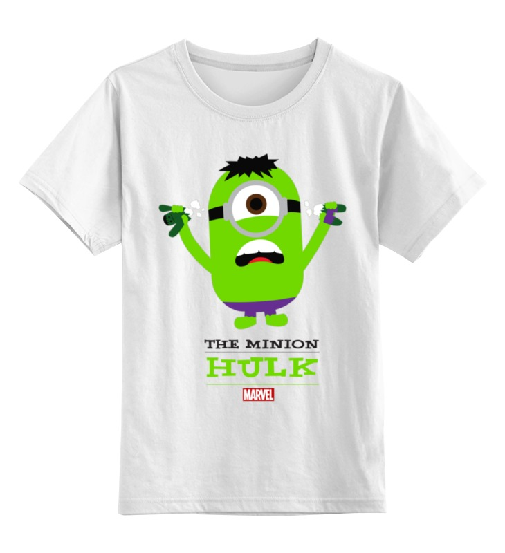 Детская футболка классическая унисекс Printio The minion hulk детская футболка классическая унисекс printio unbreakable me minion