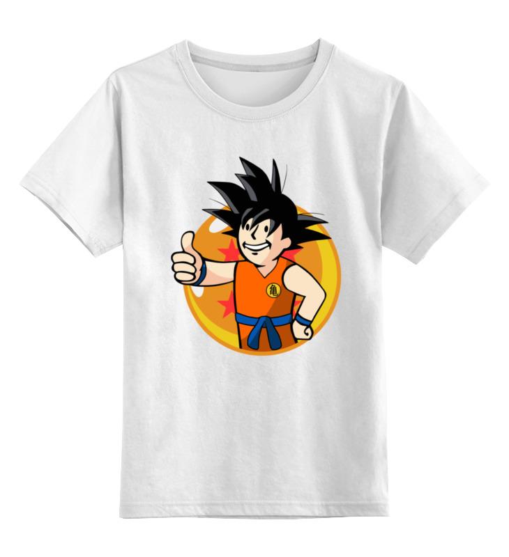 Детская футболка классическая унисекс Printio Супер сайян (фэллаут) цена и фото