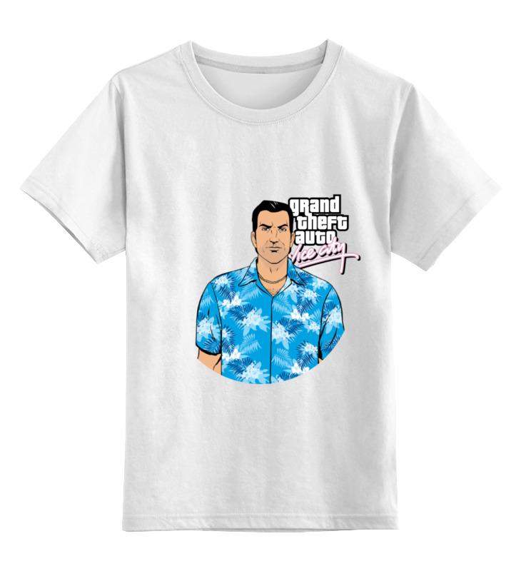 Детская футболка классическая унисекс Printio Vice city gta