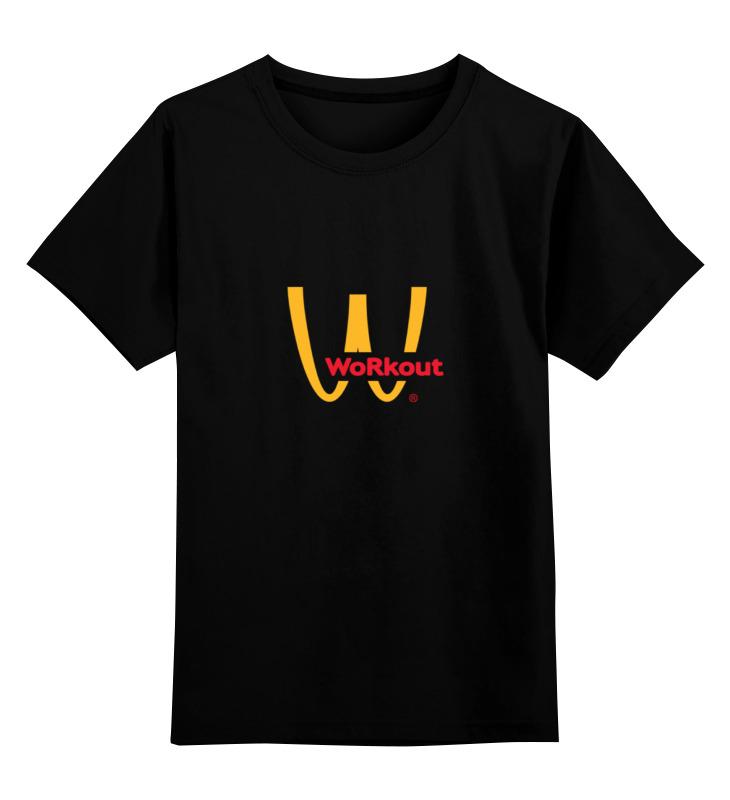 цена Детская футболка классическая унисекс Printio Workout mcdonalds
