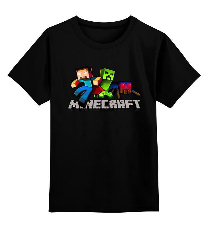 Детская футболка классическая унисекс Printio Minecraft - майнкрафт детская футболка классическая унисекс printio майнкрафт