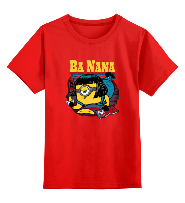 Детская футболка классическая унисекс Printio Banana fiction smoby детская горка king size цвет красный