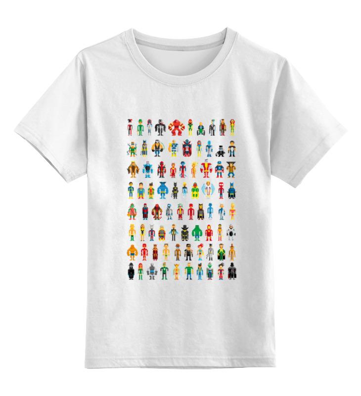 Детская футболка классическая унисекс Printio Пиксельные супергерои футболка print bar пиксельные единороги