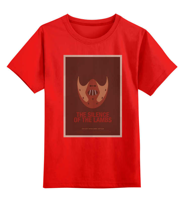 Детская футболка классическая унисекс Printio Silence of the lambs / молчание ягнят футболка wearcraft premium slim fit printio silence of the lambs молчание ягнят