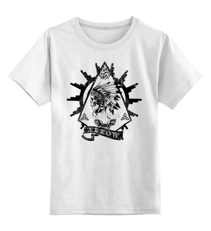 Детская футболка классическая унисекс Printio Indian arrow jungle print babydoll dress
