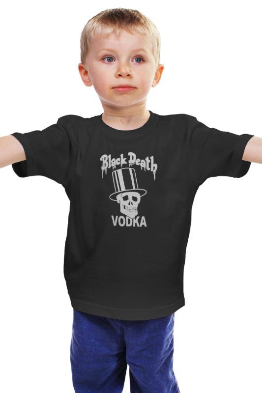Детская футболка классическая унисекс Printio Black death vodka детская футболка классическая унисекс printio death
