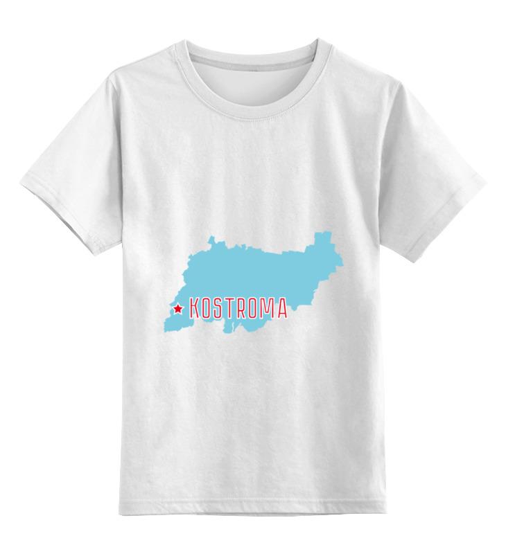 Детская футболка классическая унисекс Printio Костромская область. кострома кострома куплю коккера спаниеля цена