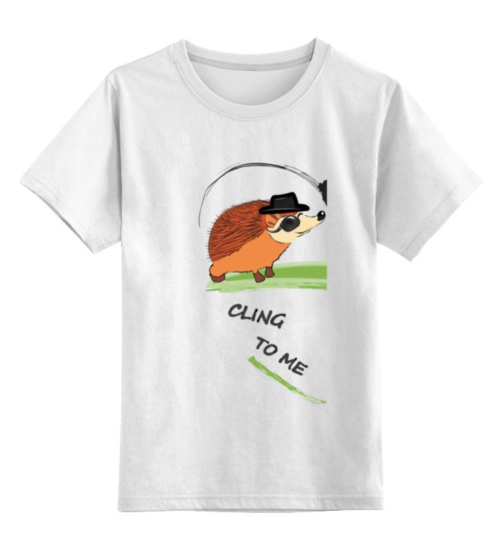 Детская футболка классическая унисекс Printio Прилипни ко мне на английском