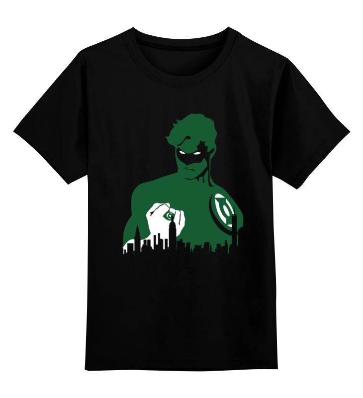 Детская футболка классическая унисекс Printio Зеленый фонарь (green lantern) green lantern v3 the end