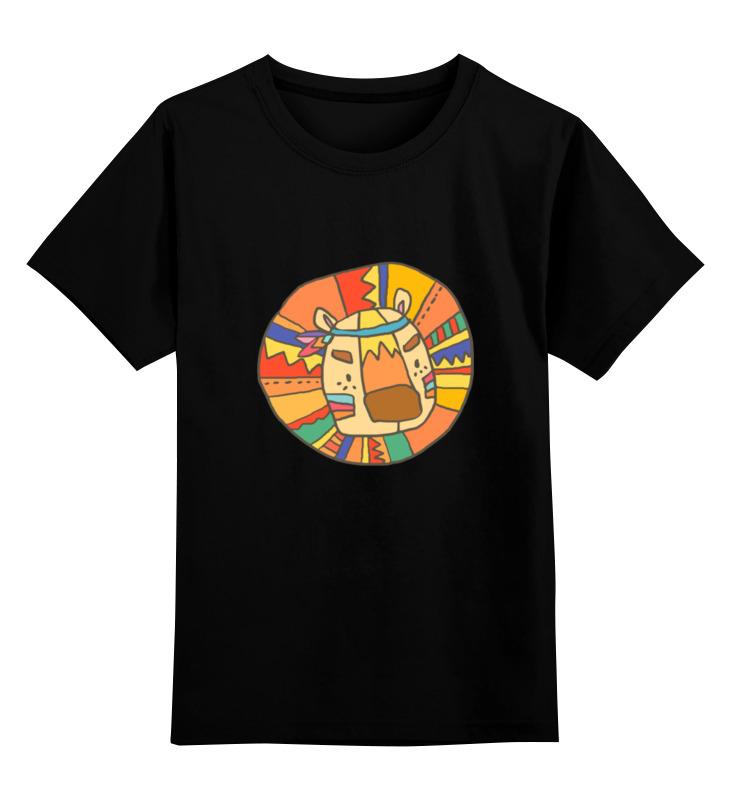 Детская футболка классическая унисекс Printio Этно лев цена 2017